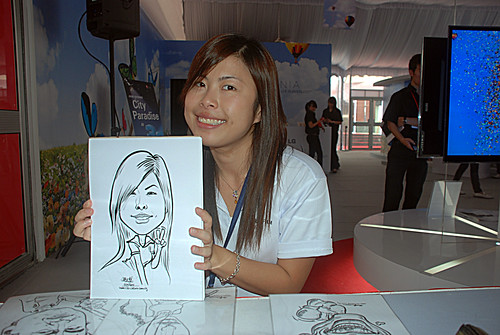 caricature live sketching for LG Infinia Roadshow - day 2 - c