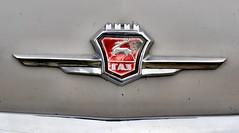 GAZ-21 Volga logo (The Adventurous Eye) Tags: gaz volga m21 gaz21 carscarscars veteranpragacarclubbrno