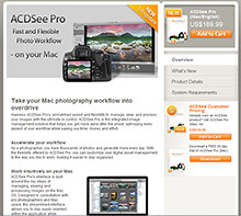 ACDSee Pro 4 photo editing and catalogueing software