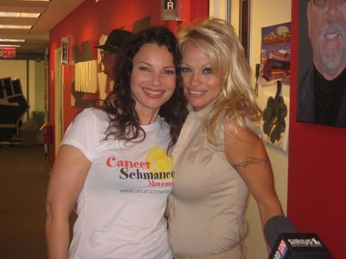 Fran Drescher with Pamela Anderson