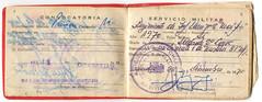 Libreta de enrolamiento Militar (Sauce Babilonia) Tags: chile militar 1970 documento servicio