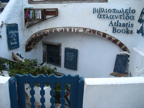 Excursion to Oia: Atlantis Books