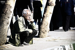 old man and the street (Ali Reza ( )) Tags: street old city winter white man cold tree glass photography nikon iran poor tired tehran  spent alireza smock lightroom  clothe    shahreray    nikor speedlightsb600 d80    capturenx    18135dx    photoshopcs4   80  omidvand delashoob