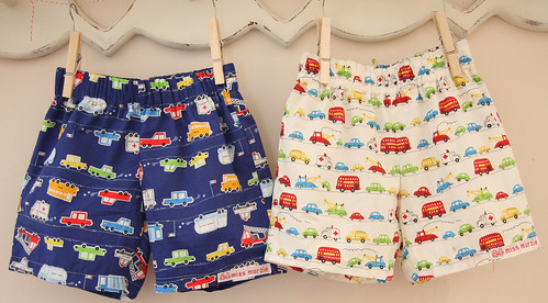 Cute Little Shorts for two little twin boys!