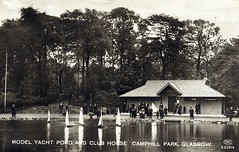 1894 Camphill Park Glasgow Scotland Model yacht pond and clubhouse (oldsailro) Tags: park old boy sea summer people sun lake playing beach water pool girl sunshine youth sailboat race vintage children fun toy scotland boat miniature wooden pond model waves sailing ship child time yacht antique group racing boom mat regatta hull spectators watercraft glascow camphill adolescence keel 1894 fashioned modelboat pwrk
