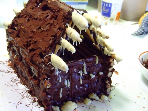 chocolate log cabin 30
