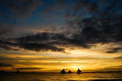 where the sun sets (marin.tomic) Tags: ocean travel sunset sea cloud sun color texture asian island boat nikon asia southeastasia horizon philippines insel explore tropical sail boracay tropics visayas gettyimages philippinen d40