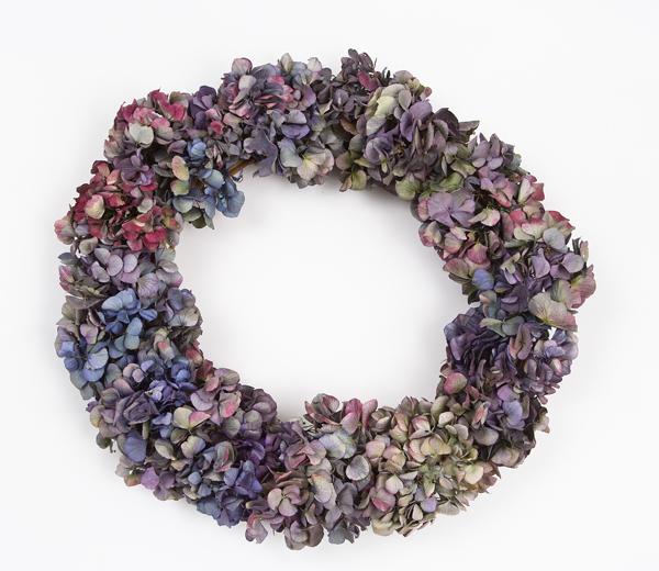 Hydrangea wreath by Elissa Shaffo