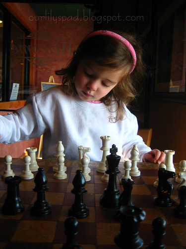 Chess at a coffee house