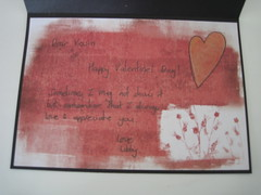 Kevin's valentines day card