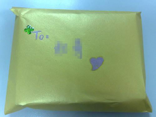 金色禮物包裝信封