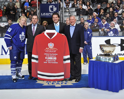 Molson Cup Justin Eves Foundation Donation with Jason Blake