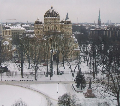 Winter snow in Riga