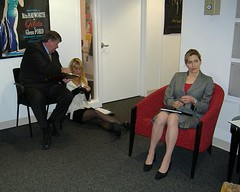 actors waiting (bluedressmovie) Tags: audition afi bluedress