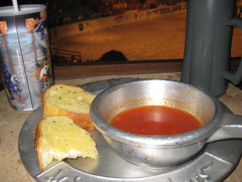 tomato soup. with awesome garlic bread.