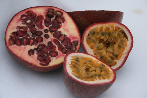 Pomegranate and Passion Fruit