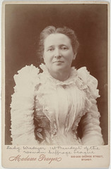 Lady Mary Elizabeth Windeyer, 1st President of the Womanhood Suffrage League, c.1890s / by Madame Praeger