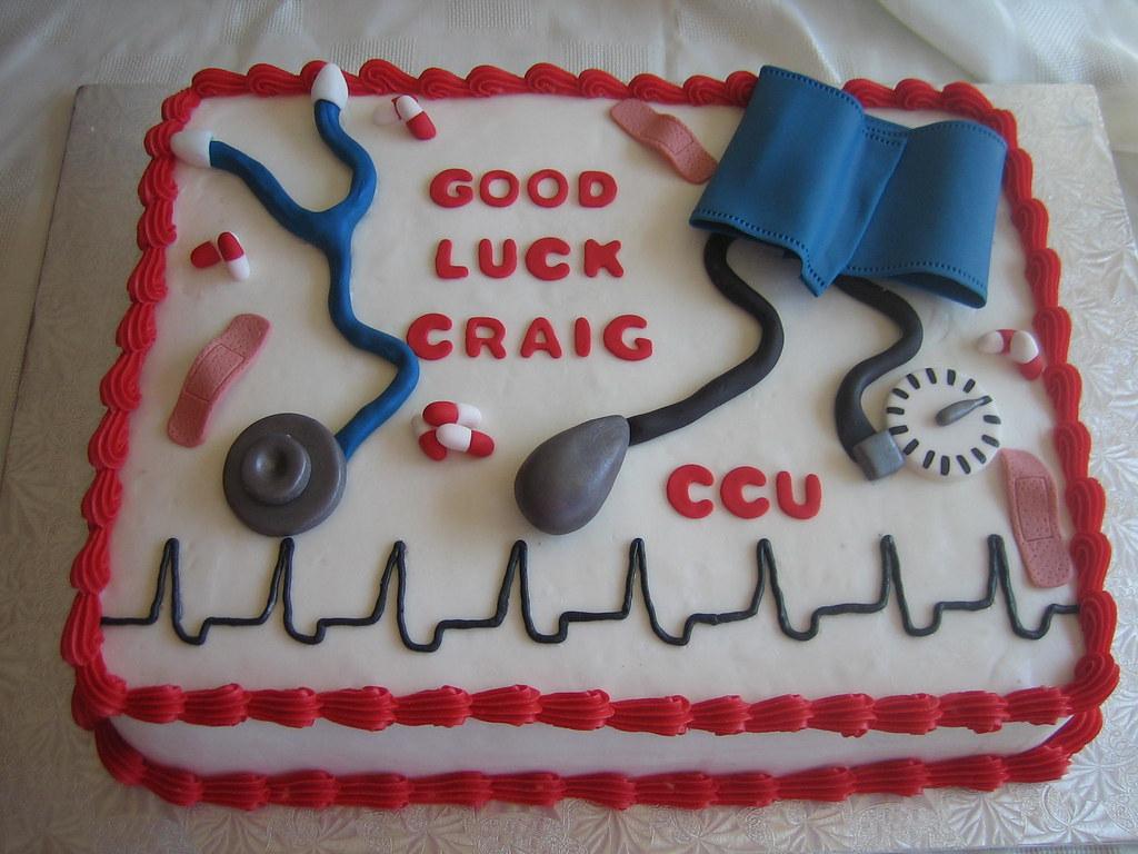 Good Luck Nurses Cake