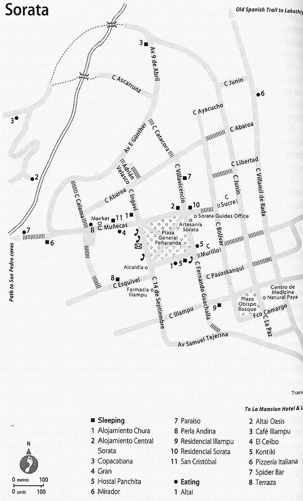Mapa De Calles Sorata La Paz Bolivia Thejourney1972 South America