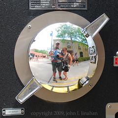 FIDL 09 (Jobe Roco) Tags: music reflection outdoors nikon louisiana downtown lafayette performance firetruck chrome 2009 nozzle d60 squircled 8464 festivalinternationaldelouisiane theflowergrrl joberoco