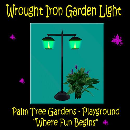 Wrought Iron Garden Lamp