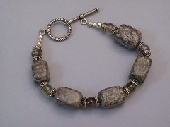 Coffee Stone and Smokey Quartz Bracelet (sweetanniesjewelry) Tags: bracelet smokeyquartz sterlingsilver coffeestone