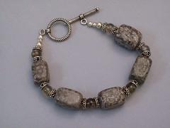 Coffee Stone and Smokey Quartz Bracelet (sweetanniesjewelry) Tags: bracelet smokeyquartz sterlingsilver coffeestone
