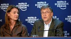 Melinda French Gates, Bill Gates - World Econo...