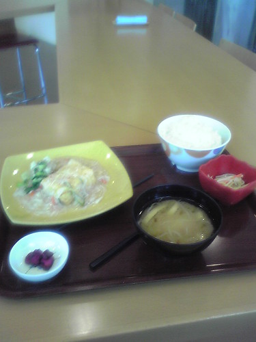 Set meal of the day at Toho Studios cafetaria