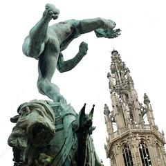 Antwerp (nicnac1000) Tags: fountain statue cathedral belgium belgian antwerp legend brabo antwerpen grotemarkt anvers 1887 lambeaux jeflambeaux silviusbrabo jeflambeux nicnacx