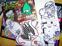 (?JABZ?) Tags: street art stickerart zan jabs mecro trailanderror jabz ceito ceitoatv zanlovesela