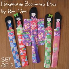 shiori dolls (revi1001) Tags: doll handmade etsy paperdoll bookmark artfire shiori japanesedoll ningyou washidoll bonekajepang kimonodoll