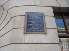 Photo of Thomas Tompion and George Graham blue plaque