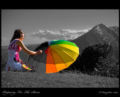 Preparing For The Storm (NadeStyle) Tags: white black color del 50mm nikon dress colorfull pic monica ludwig palette selective cavall prat lule 14f d80 abigfave platinumphoto colorphotoaward dingeldein caroi