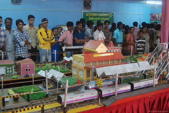 Indian Railways - Model train at Thrissur Pooram Exhibition