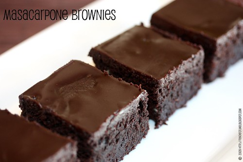 ... that I check out this recipe for Chocolate Mascarpone Brownies