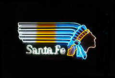 Santa Fe Chief Neon Sign (Nutch Bicer) Tags: vegas santafe sign neon lasvegas indian neonsign neonsignmuseum