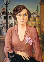 Schad, Christian (1894-1982) - 1926 Marcelle (RasMarley) Tags: 1920s portrait animal cat germany painter 20thcentury marcelle realism 1926 schad christianschad newobjectivity