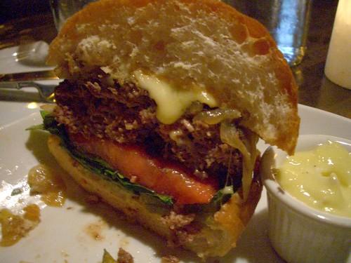 Boho burger inside