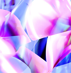 Summer Song 1 (crescentsi) Tags: pink flowers blue light summer abstract colour design graphicdesign petals seasons joy digitalart happiness graphicmaster