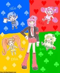 Shugo Chara! (AJV Films) Tags: anime cute girl chibi manga dai fanart su miki schoolgirl ra amu superdeformed magicalgirl chibbi