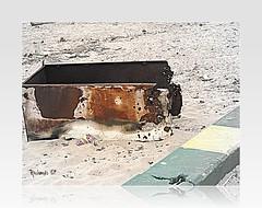 Unwanted and abandoned (*Amanda Richards) Tags: abandoned fridge rust rusty dump seawall unwanted picnik dumped