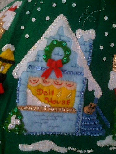'Doll House' - Christmas Village Tree Skirt