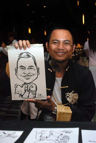 Caricature live sketching for CPGairport D&D - 3