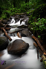 Fourgassier Water Fall (Yoann Rigolleau ( busy , busy )) Tags: wood longexposure light red color green nature yellow rock photoshop canon wonderful landscape photo waterfall aperture fabulous root polarizer paysage cascade guyane 973 roura guyanefranaise singhray leefilter yoannrigolleau gallenrowell
