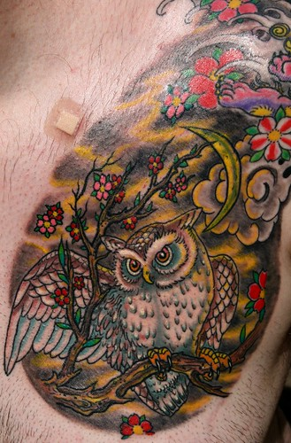The day after - Owl tattoo - with color