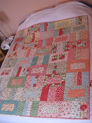 Quilted and Bound (dana and thread) Tags: quilt sweet moda quilting layercake jellyroll urbanchiks candybarroad