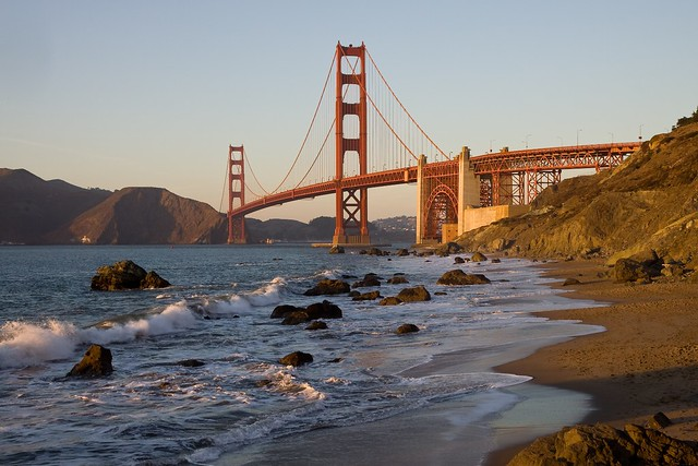 Golden Gate Bridge from Baker Beach - San Francisco, California
