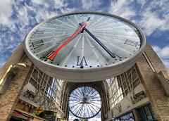 XII : XXV... :-) (David-Duchens) Tags: sky clock architecture clouds perspective horloge bec temps hdr aiguilles cergypontoise timee photomatix alarecherchedutempsperdu cergysaintchristophe bratanesque obramaestra