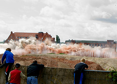 Dust (binaryCoco) Tags: demolish explosion continental demolition hannover conti abriss detonation limmer sprengung